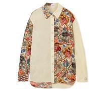 Hemd aus Bedrucktem Seidenchiffon