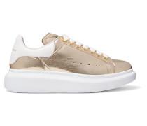Sneakers aus Craquelé-leder in Metallic-optik