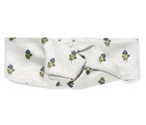 Haarband aus Floralem Metallic-jacquard