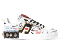 Verzierte Sneakers aus Bedrucktem Leder