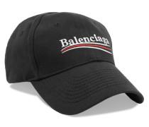 Bestickte Baseballcap aus Baumwoll-twill
