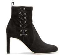 Mallory 85 Ankle Boots aus Veloursleder