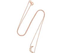 Mini Crescent Kette aus 18 Karat  mit Diamanten