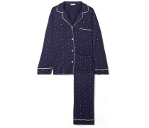 Sleep Chic Bedruckter Pyjama aus Stretch-jersey