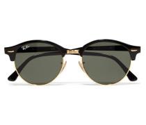 Clubround Sonnenbrille aus Azetat und Goldfarbenem Metall