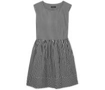 Kleid aus Baumwollpopeline mit Gingham-karos