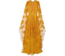 Verzierte Robe aus Tüll mit Cape-effekt