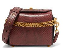 Box Bag 19 Schultertasche aus Pythonleder