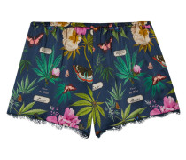 Pyjama-shorts aus Bedruckter Seiden-charmeuse
