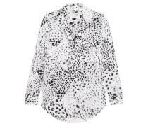 Ansley Bedrucktes Hemd aus Vorgewaschener Seide