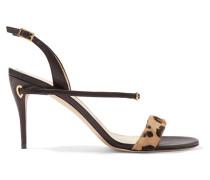 Tommaso Slingback-sandalen aus Leder und Kalbshaar