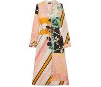 Camilla Bedrucktes Kleid aus Glänzendem Twill