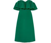 Schulterfreies Kleid aus Seiden-cady