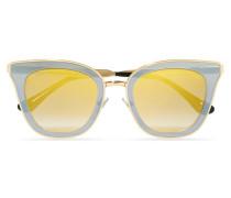 Cat-eye-sonnenbrille aus Azetat