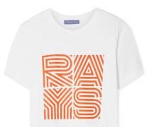 Rays T-shirt aus Baumwoll-jersey mit Print