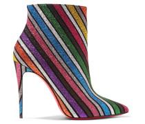 So Kate 100 Gestreifte Ankle Boots aus Leder