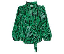 Moss Bedruckte Bluse aus Seiden-georgette