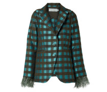 Davina Karierter Blazer aus Tweed