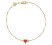 Armband aus 14 Karat  mit Diamanten und Emaille