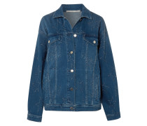 Jeansjacke in Distressed-optik und Oversized-passform