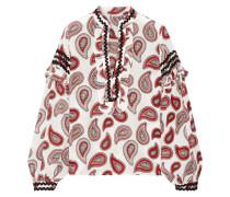 Bedruckte Bluse aus Crêpe De Chine aus Seide