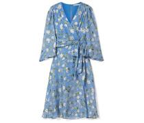 Halsey Floral Bedrucktes Kleid aus Devoré-chiffon