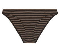 Backgammon Hasard Bikini-höschen aus Gestreiftem Stretch-lurex®