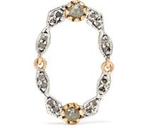Adele N°3 Ohrring aus 9 Karat  und Silber