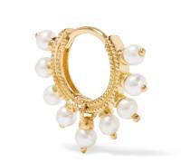 6,5 Mm Ohrring aus 14 Karat  mit Perlen