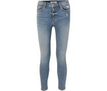 Kendall Petite Hoch Sitzende Skinny Jeans in Distressed-optik