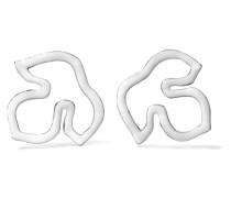 Silberfarbene Ohrringe mit Emaille