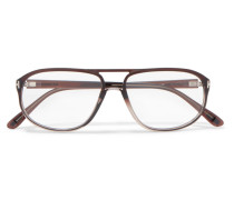 Brille mit D-rahmen aus Azetat