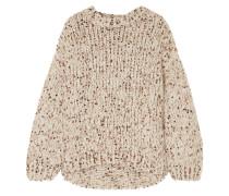 Pullover aus Grobstrick mit Pailletten