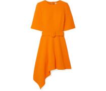 Asymmetrisches Minikleid Aus Woll-crêpe