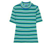 Gestreiftes T-shirt aus einer Gerippten Baumwollmischung