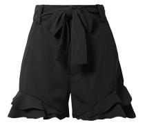 Bellisima Shorts aus Crêpe mit Volants