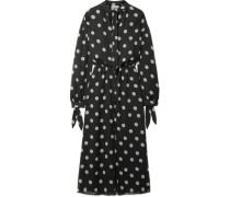 Zahara Kleid aus Chiffon mit Polka-dots
