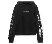 Oversized-hoodie aus Besticktem Baumwollfrottee
