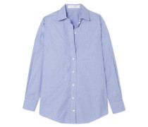 Oversized-hemd aus Baumwoll-chambray