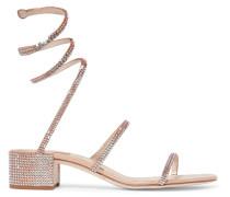 Cleo Sandalen aus Metallic-satin und Leder