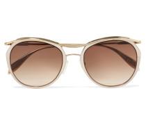 farbene Sonnenbrille mit Rundem Rahmen