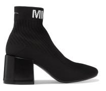 Sock Boots aus Geripptem Stretch-strick