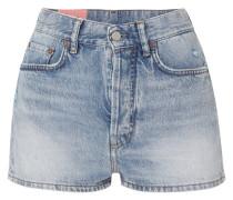 Ren Jeansshorts in Distressed-optik