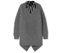 Gerippter Pullover aus Wolle
