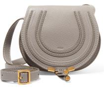 Marcie mini Schultertasche aus strukturiertem Leder