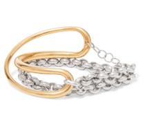 Initial Armband aus -vermeil und Silber