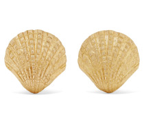 + Net Sustain Scallop Ohrringe aus 18 Karat