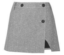 Minirock aus Tweed aus einer Wollmischung in Wickeloptik