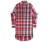 Oversized-hemd aus einer Karierten Seiden-baumwollmischung