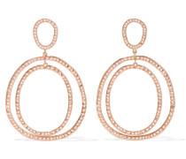 Again Double Ohrringe Aus 18 Karat  Mit Diamanten